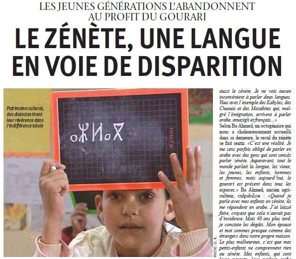 Langue zénète